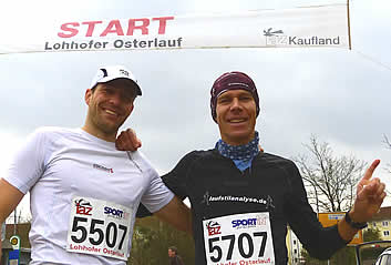 Preissl Ralf und Andi beim Osterlauf Lohhof